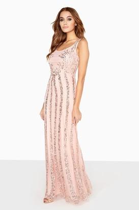Little Mistress Pink Sequin Maxi Dress