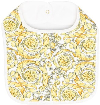Versace Kids Barocco-print cotton-blend bib