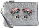 Anya Hindmarch eyes embellished glittery clutch - women - Leather/metal/glass - One Size