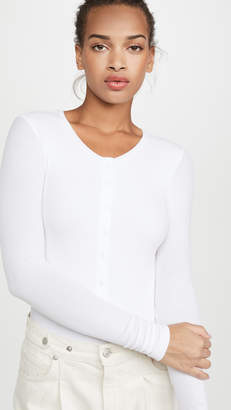 ATM Anthony Thomas Melillo Micromodal Henley Bodysuit
