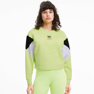 Puma Women's Rebel Crew Fleece Cropped Sweatshirt