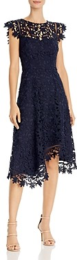 Eliza J Asymmetric Lace Dress