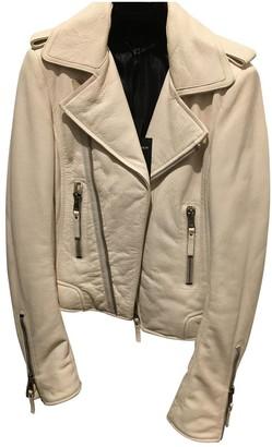 Balenciaga White Leather Leather jackets