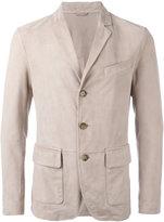 Eleventy three button blazer - men - Suede/Polyester - 48