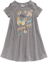 Epic Threads Cold Shoulder Butterfly-Print Dress, Little Girls, Created for Macy's