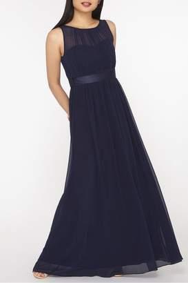 Dorothy Perkins Womens Petite Natalie Chiffon Maxi Dress - Blue