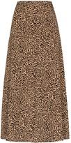 Reformation Bea leopard-print skirt