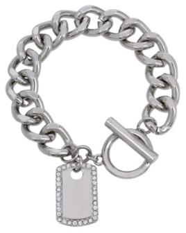Jessica Simpson Dog Tag Charm Bracelet