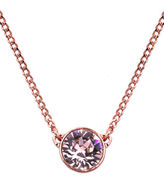 Givenchy Rose Gold and Swarovski Crystal Pendant Necklace