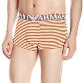 Emporio Armani Men's Microfiber Sailor Stripe Trunk