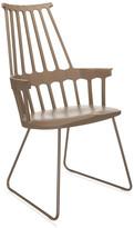 Kartell Comback Sled Chair - Hazelnut