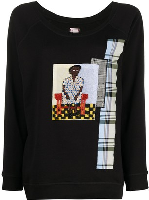 Antonio Marras Embroidered Patchwork Jumper
