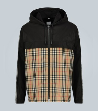 Burberry Compton checked jacket with hood