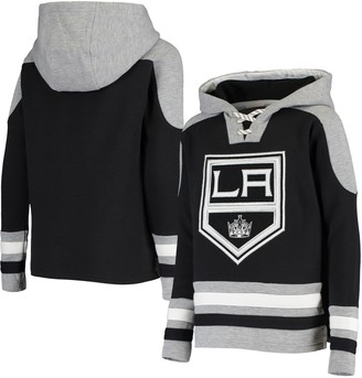 Outerstuff Youth Black Los Angeles Kings Ageless Must-Have Lace-Up Pullover Hoodie
