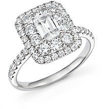 Bloomingdale's Emerald-Cut Certified Diamond Engagement Ring in 14K White Gold, 2.0 ct. t.w. - 100% Exclusive