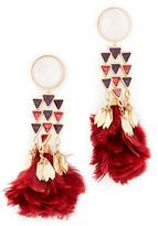 Tory Burch Tropical Creature Feather Chandelier Earrings
