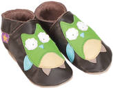 Starchild shoes Girls Or Boys Soft Leather Baby Shoes Hootie Chocolate