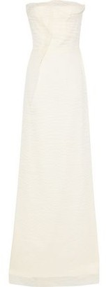 Roland Mouret Strapless Ruffled Crinkled Silk-blend Organza Bridal Gown