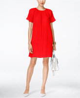 MICHAEL Michael Kors Pleated Shift Dress