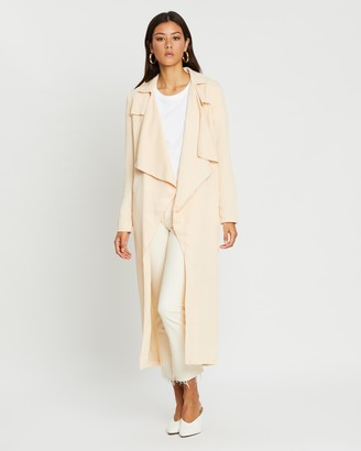 Missguided Textured Waterfall Coat