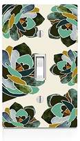 MWCustoms Abstract Flower Art Light Switch Plate