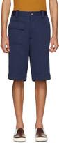 Marni Navy Cloqué Shorts
