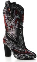 Black Rhinestone Cowboy Boot