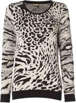 Biba Leopard jacquard jumper
