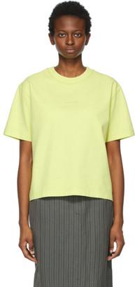 Acne Studios Yellow Logo T-Shirt