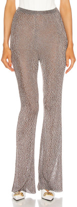 Thierry Mugler Flare Pant in Chocolat & Silver | FWRD