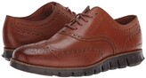 Cole Haan Zerogrand Wingtip Oxford Leather (British Tan Leather/Java) Men's Shoes