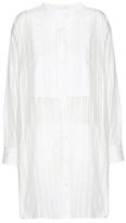 Saint Laurent Striped Cotton Tunic Dress