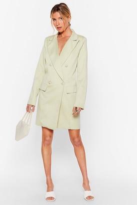 Nasty Gal Womens You're in My Business Oversized Blazer Dress - Green - 10