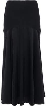 Sonia Rykiel Satin-paneled Crepe Midi Skirt