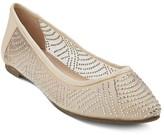Tevolio Women's Reegan Illusion Mesh Embellished Flats