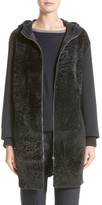 Fabiana Filippi Women's Genuine Shearling Zip Long Hoodie