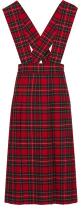 Miu Miu Plaid Mid-Length Dress