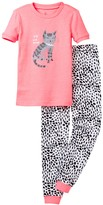 Petit Lem I Heart Cat Naps Pajama - 2-Piece Set (Toddler & Little Girls)