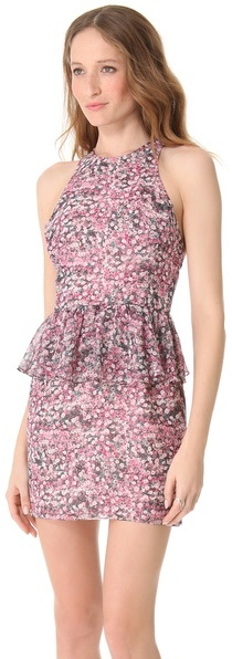 Charlotte Ronson Peplum Mini Dress