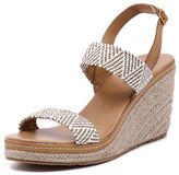 Walnut Melbourne New Cindy Strap Wedge Taupe White Womens Shoes Casual Sandals Heeled