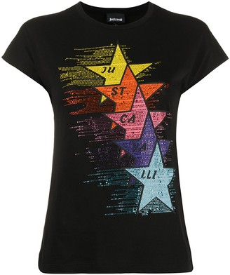 Just Cavalli embellished star T-shirt