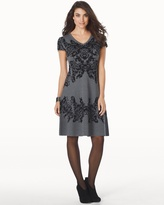 Soma Intimates Fit and Flare Short Sweater Dress