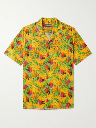 Vilebrequin Camp-Collar Printed Cotton And Linen-Blend Shirt