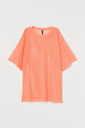 H&M Oversized mesh T-shirt