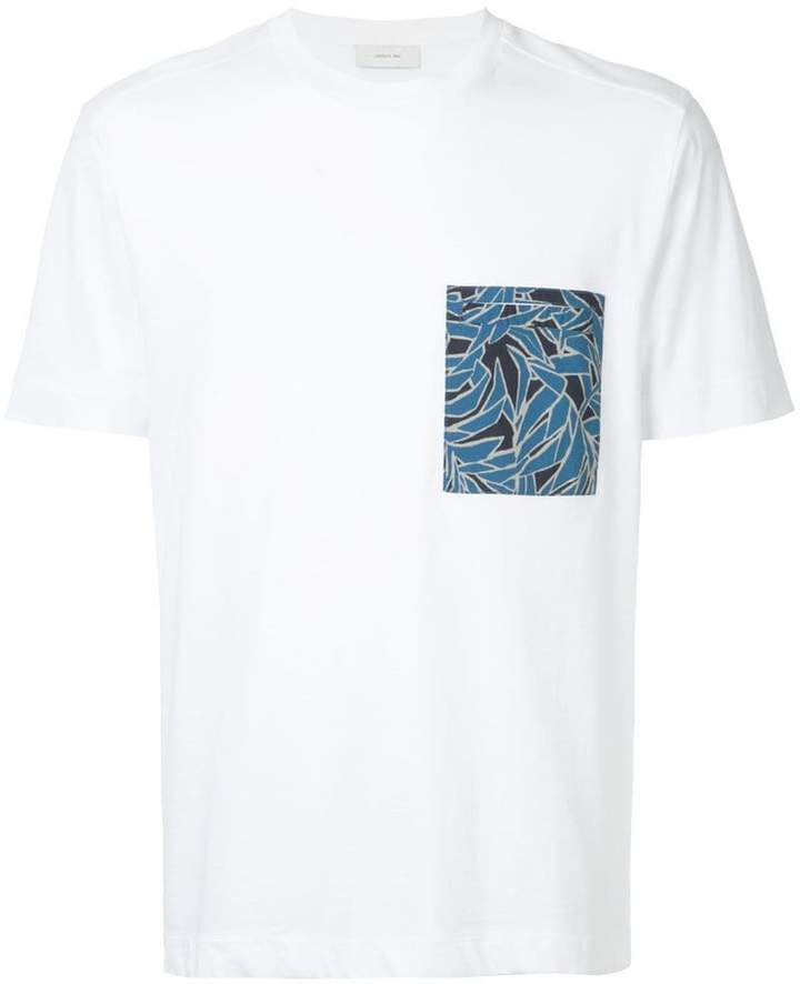 Cerruti tropical-print chest pocket T-shirt