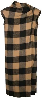 Bernhard Willhelm long checkered knit coat