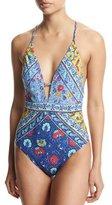 Nanette Lepore Woodstock Goddess One-Piece Swimsuit, Multi