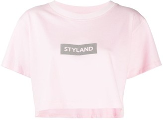 Styland logo-print cropped T-Shirt