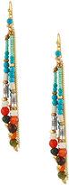 Nakamol Beaded Tassel Fringe Earrings, Multi