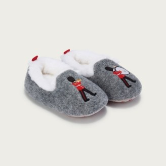 The White Company Children's London Slippers, Grey, 4/5